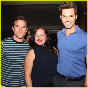 Andrew Rannells & Boyfriend Mike Doyle Celebrate HBO's 'Suited' Premiere!