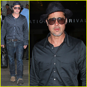 Brad Pitt Returns Home To L.A After Le Mans 24 Hours!