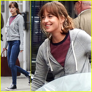 Dakota Johnson Is All Smiles on 'Fifty Shades' Set After Breakup