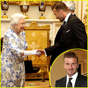 David Beckham Gets a Big Smile from Queen Elizabeth