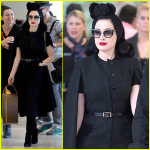 Dita Von Teese Arrives in Australia Ahead of Burlesque Show
