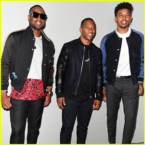 Dwyane Wade, Victor Cruz & Nick Young Team Up At Lanvin Fashion Show!