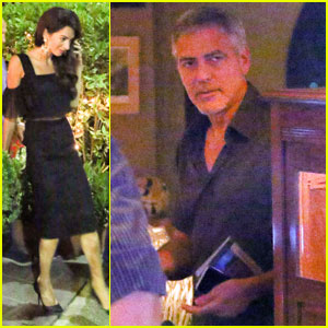 George Clooney Treats Wife Amal to Dinner in Lake Como