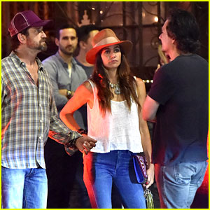 Gerard Butler & Morgan Brown Hang Out with His Friend Len Wiseman