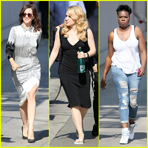 'Ghostbusters' Ladies Arrive for 'Jimmy Kimmel Live!' Appearance