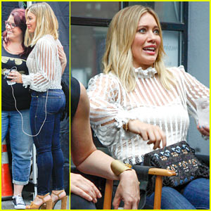Hilary Duff Makes Silly Faces on 'Younger' Set