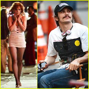 James Franco & Maggie Gyllenhaal Film 'The Deuce' in NYC!