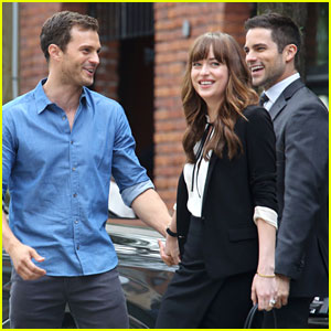 Jamie Dornan & Dakota Johnson Film New 'Fifty Shades' Scene with Brant Daugherty!