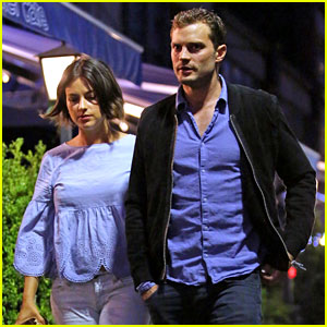 Jamie Dornan Grabs Dinner After Work with Wife Amelia Warner
