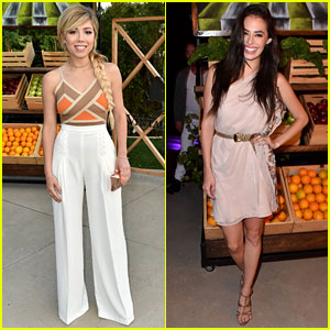 Jennette McCurdy & Chloe Bridges Step Out for Just Jared & Vintage Grocers' Malibu Dinner