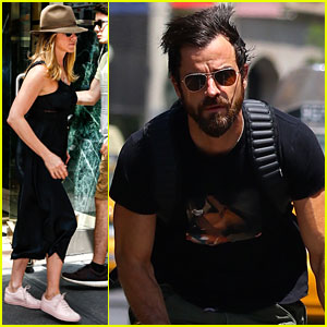 Jennifer Aniston & Justin Theroux Kick Off Week in NYC