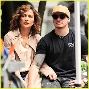 Jennifer Lopez Gets a 'Shades of Blue' Set Visit from Boyfriend Casper Smart!
