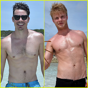 Josh Henderson & Graham Rogers Go Shirtless in the Bahamas for Beach Volleyball Game!