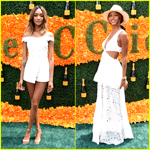 Jourdan Dunn & Jasmine Tookes Wow in White at Polo Classic
