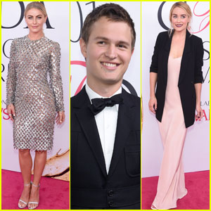 Julianne Hough & Ansel Elgort Go Glam for CFDA Awards 2016