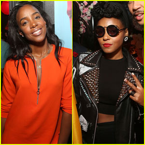 Kelly Rowland & Janelle Monae Show Their Support for Jidenna