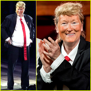 Meryl Streep Wears Fat Suit & Fake Tan for Donald Trump Impersonation - Watch Now!