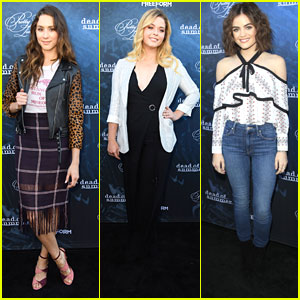 Lucy Hale & Troian Bellisario Glam Up The 'PLL' Season 7 Screening Event
