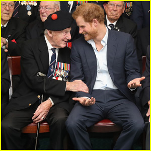 Prince Harry Gets a Fashion Lesson From a 91-Year-Old Veteran
