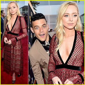 Rami Malek Hilariously Photobombs 'Mr. Robot' Co-Star Portia Doubleday at Television Academy Event