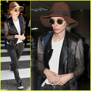Rooney Mara Keeps Bleached Blonde Hair Covered at LAX