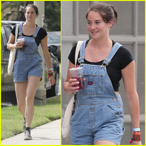 Shailene Woodley Rocks Overall Shorts in LA!