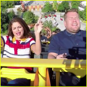Selena Gomez & James Corden Take Carpool Karaoke to a Theme Park