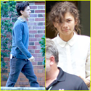 Tom Holland & Zendaya Film 'Spider-Man' - First Set Photos!