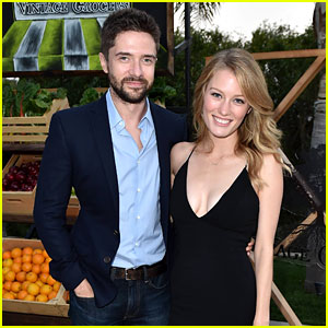 Topher Grace & Wife Ashley Are Glowing Newlyweds at Just Jared & Vintage Grocers' Malibu Dinner