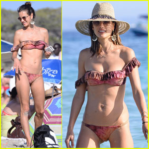 Alessandra Ambrosio Has a Beach Day With the Whole Family