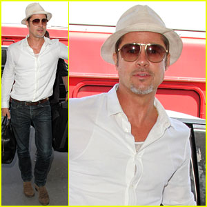 Brad Pitt Looks So Handsome Catching Flight Out of Town