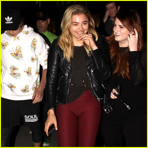 New BFFs Chloe Moretz & Meghan Trainor Catch a Movie with Brooklyn Beckham