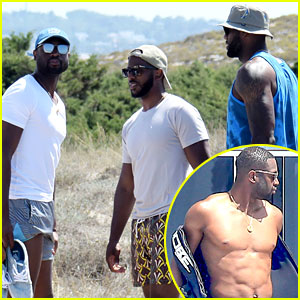Dwyane Wade, LeBron James, & Chris Paul Go on Vacation in Ibiza Together!