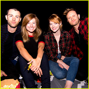 Emma Stone Attends 'Purple Rain' Screening with Friends!