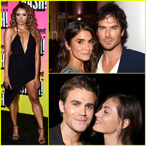 Ian Somerhalder & Nikki Reed Celebrate Paul Wesley's Birthday at EW Comic-Con Party