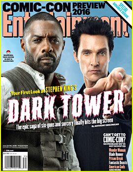 Dark Tower's Idris Elba & Matthew McConaughey Pose In Character for 'EW' Cover