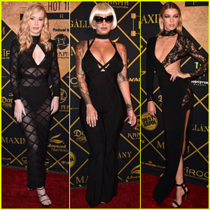 Iggy Azalea Sports Sheer Black Dress for Maxim Hot 100 Party