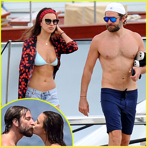 Bradley Cooper & Irina Shayk Share a Kiss on Italy Vacation!