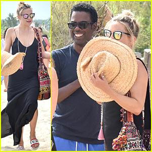 Kate Hudson & Chris Rock Meet Up In Saint-Tropez!
