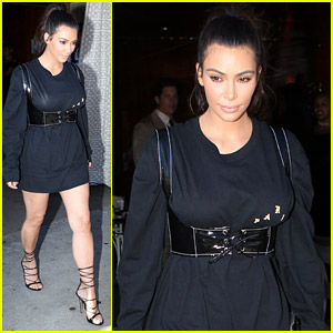 Kim Kardashian Turns an Over-Sized Shirt Into a Dress