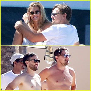 Leonardo DiCaprio & Nina Agdal Lounge on Yacht with Tobey Maguire & Friends!
