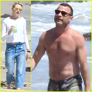 Liev Schreiber Goes Shirtless in Malibu for Family Beach Day!