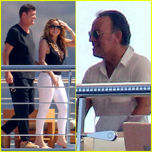 Mariah Carey Meets Up with Bruce Springsteen in Italy