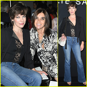 Milla Jovovich Is 'Walking On A Dream' After Elie Saab Fashion Show!