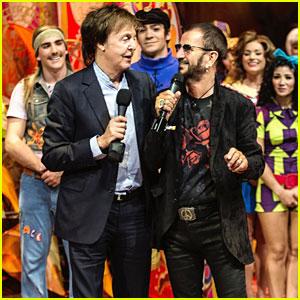 Paul McCartney & Ringo Starr Reunite For Beatles LOVE 10th Anniversary Show in Vegas