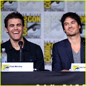 Vampire Diaries Cast Celebrates Paul Wesley's Birthday at Comic-Con
