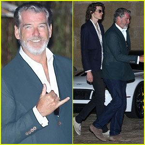 Pierce Brosnan Kicks Off July 4th Celebrations with Son Dylan!