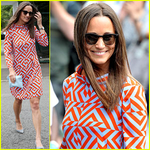Pippa Middleton Takes in Some Tennis at Wimbledon
