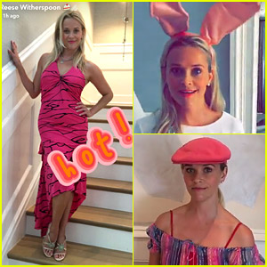 Reese Witherspoon Tries On 'Legally Blonde' Costumes 15 Years Later in Epic Snapchat Story!