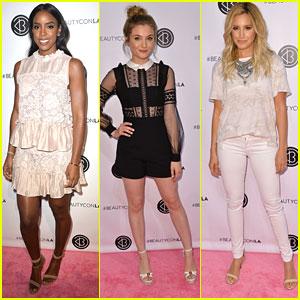 Kelly Rowland, Skyler Samuels, & Ashley Tisdale Hit Up BeautyCon in LA